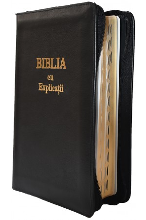 Biblia - ediție de lux 077 PF cu index, explicații și concordanță - format MARE