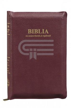 Biblia - ediție de lux 077 ZTI auriu - vișiniu - format MARE