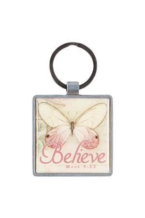 Breloc metalic - Believe - Mark 9:23