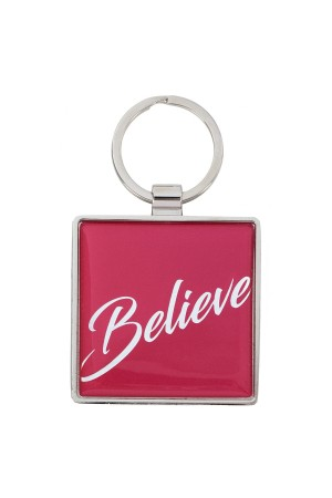 Breloc metalic - Believe - Matthew 19:26