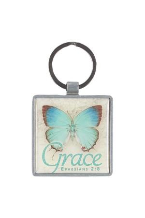 Breloc metalic - Grace - Ephesians 2:8