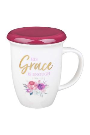 Cană pentru infuzare - His Grace Is Enough