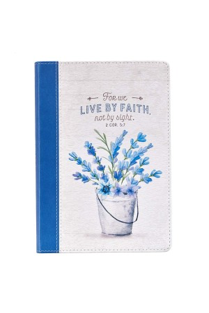 Jurnal de lux - For we live by faith... - 2 Cor. 5:7 - format mare