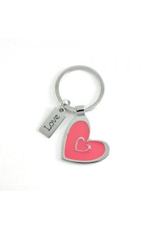 Breloc metalic (inimă) - Love