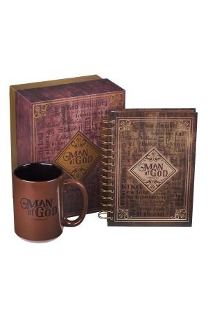 Set cană ceramică + jurnal cu spirală -- Man of God