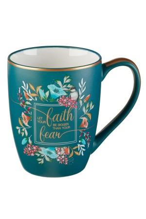 Cană ceramică -- Let your faith be bigger...