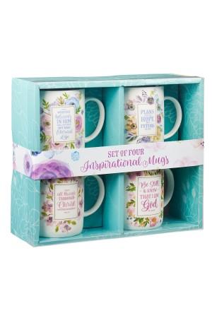 Set 4 căni ceramică -- Inspirational mugs