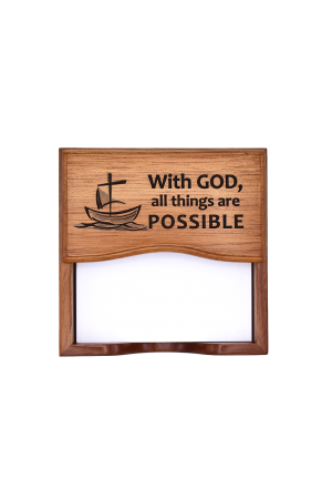 Suport notițe pentru birou - With God all things are possible - GNP1-378
