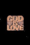 Magnet din lemn - God is LOVE - AM-02