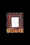Magnet din lemn ramă foto - Binecuvântat - APM-134R
