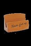 Suport pentru cărți de vizită - Never give up - GBC05-399