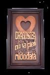 Tablou ramă din lemn - Dragostea nu va pieri niciodată - FQV-65R