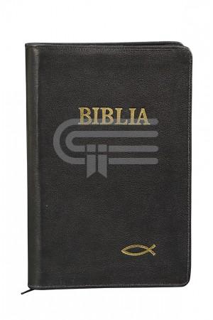 Biblia - copertă din piele și fermoar 073 PF