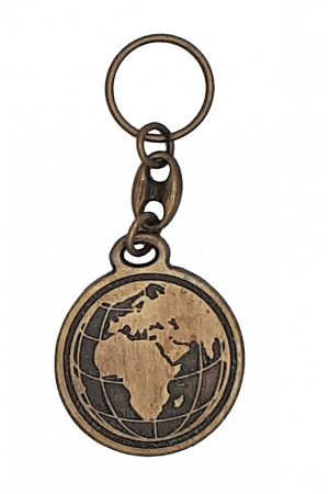 Breloc metalic - Duceți-vă în toată lumea - bronz