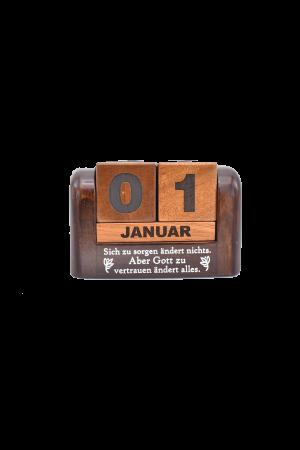 Calendar din lemn pentru birou - Sich zu sorgen andert nichts - GDC02-602D