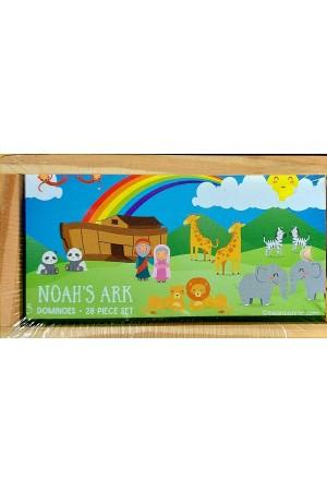 Joc domino din lemn - Noah's Ark -- 28 piese