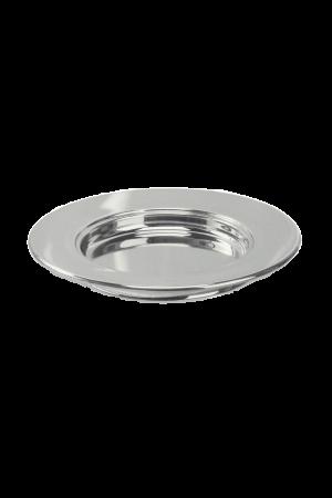 Farfurie pentru pâine - argintiu lucios