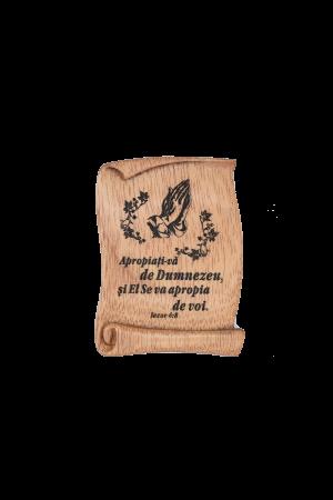 Magnet din lemn - Apropiați-vă de Dumnezeu - EU30M-290R