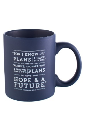 Cană ceramică -- For I know the plans...
