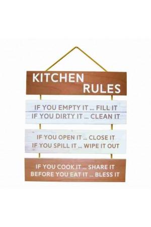Tablou din lemn - Kitchen rules - PR19-820
