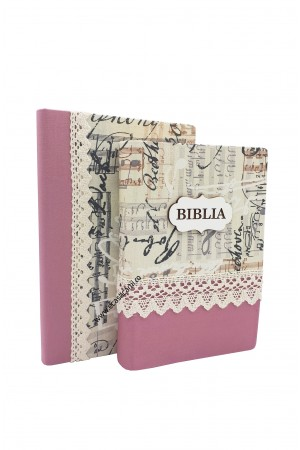Set Biblie + jurnal handmade - model 14