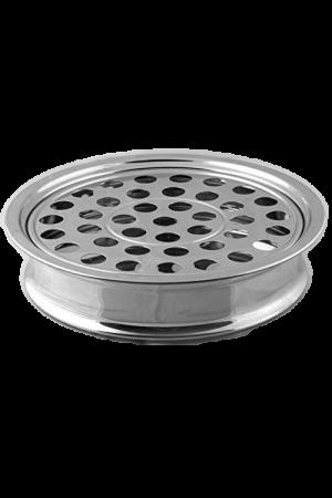 Tavă pentru pahare - argintiu lucios