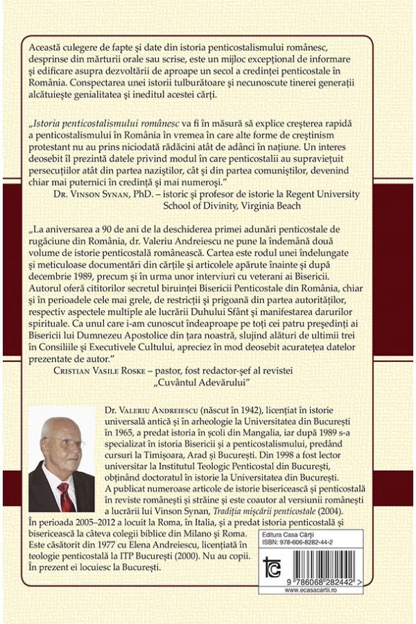 Istoria penticostalismului românesc - Volumul 1:  Evanghelia deplină şi puterea lui Dumnezeu