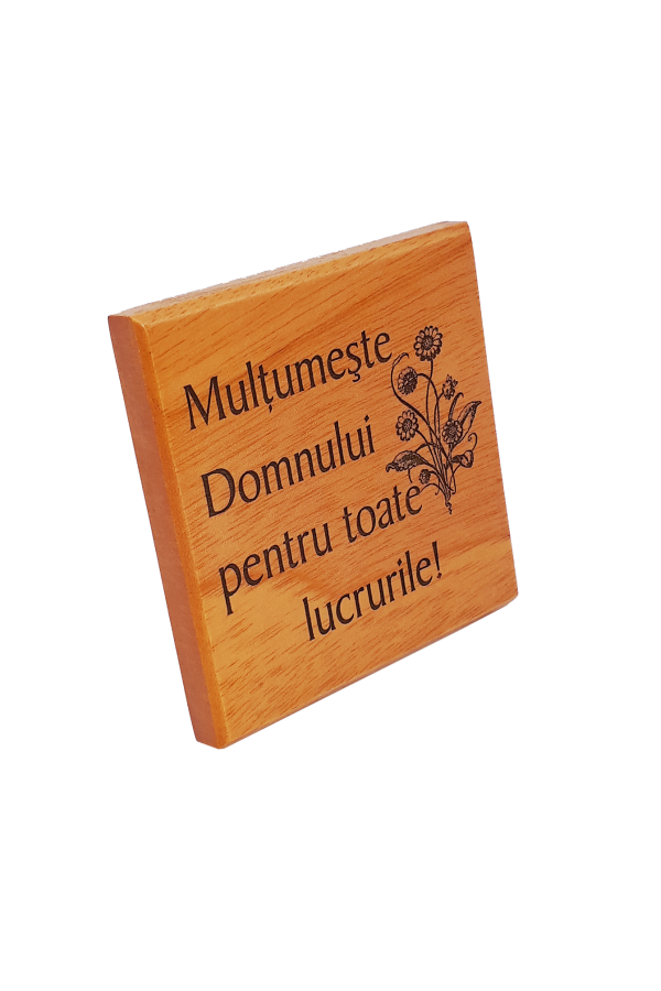 Magnet din lemn - Mulțumește Domnului pentru toate lucrurile - EP04M-272R