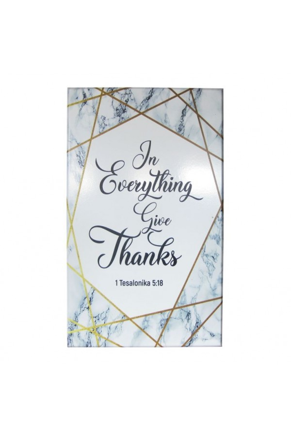 Tablou din lemn - In Everything Give Thanks - PR13-07