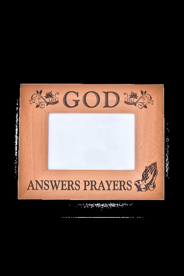 Ramă foto din lemn - God answers prayers - EF05-267