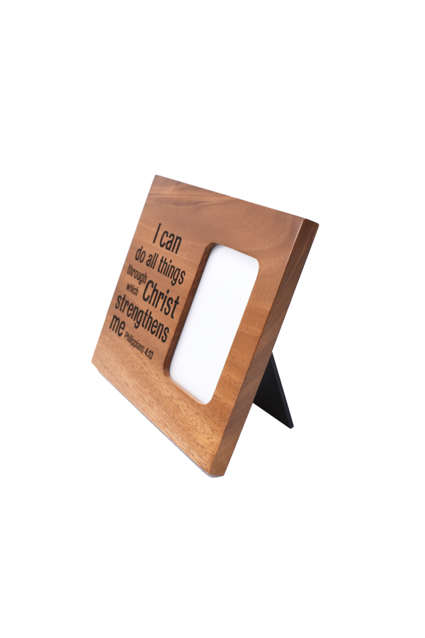 Ramă foto din lemn - I can do all things through Christ - EF08-310C