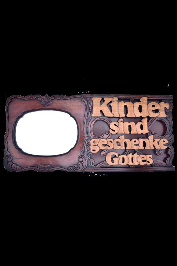 Ramă foto din lemn - Kinder sind geschenke Gottes - PH-29D