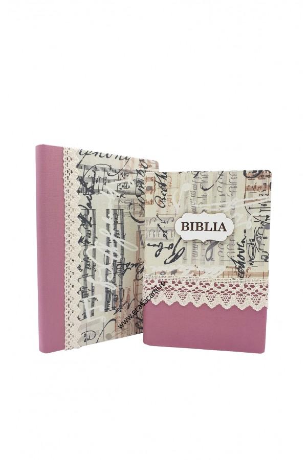 Set Biblie + jurnal handmade - model 14