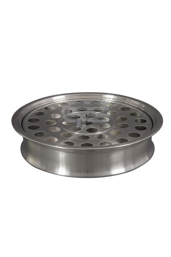 Tavă pentru pahare - MODEL 1 - argintiu mat